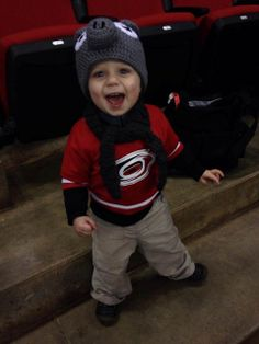 A little fan having fun at his first #Canes game!