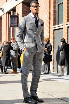 Classic Menswear Pattern peak lapel suit & brogue Smart @GOTSTYLE. I like the way this looks!