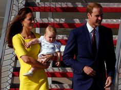 Kate, William And Prince George Arrive In Sydney