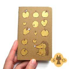 Hedgehog and apples notebook | Flickr: Intercambio de fotos