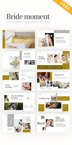Free Bride Moment Presentation Template #PowerPoint #PPT #template #free