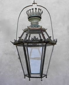19th century Spanish Crown Lantern from Chateau Domingue