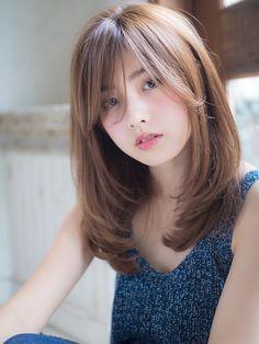 Korean Hairstyle Medium Bangs, Asian Hair Bangs, Asian Haircut, Korean Short Hair, Korean Medium Hair, Korean Hairstyles Women, Japanese Hairstyles, Asian Hairstyles, Men Hairstyles