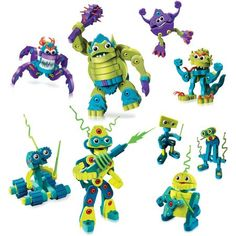 Bloco Monsters and Robots Scholastic Set