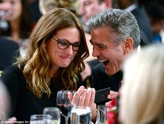 Julia Roberts & George Clooney- what's so interesting that you can't share with us?