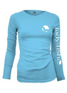 Ladyfish UPF long sleeve shirt - Coastal Blue