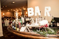 A cozy and creative DIY holiday lodge wedding // photos by Mary Kate McKenna Photography: http://www.MKMcKenna.com || see more on http://www.artfullywed.com