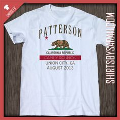 california flag family reunion shirt custom family reunion shirts personalized for your family - Family Reunion T Shirt Design Ideas