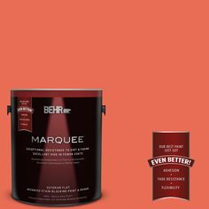 BEHR MARQUEE 1-gal. #190B-6 Wet Coral Flat Exterior Paint