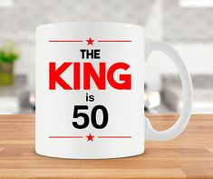 50th Birthday Gifts For Men Mug Coffee Cup Bday Present 50 Years Old Ceramic