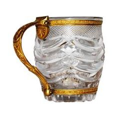 Continental Gilt Mounted Carved Crystal Presentation Cup