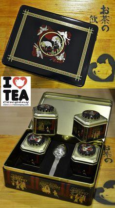Set Asia: 4 latas de 50 gr. llenas de té, rooibos y otras infusiones a elegir + cuchara infusora + caja para guardarlo todo. Un regalo con el que acertarás. Ref. Cofre01