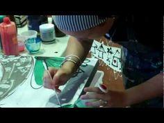 Mixed Media and Resin Art Demo by Tamara Haddon at Art Shed Brisbane