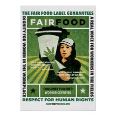 Shop Fair Food Poster - Large created by FairFood.
