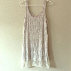 White lace dress White sleeveless lace dress, perfect for summer. Worn once. Peaches N Cream Dresses