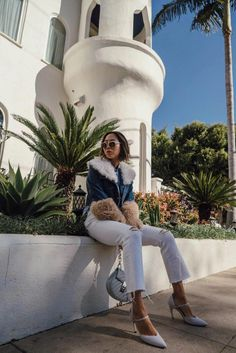 1551f3b0e0 A Sunny Day in LA in Roger Vivier Heels and Madewell Jeans  RogerVivier