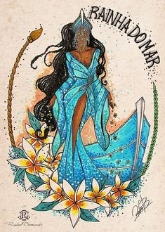 But all had in common reverence to the power and beauty of this entity. A internet brasileira comemorou o Dia de Iemanjá com lindas imagens Black Girl Art, Black Art, Art Girl, African American Art, African Art, Yemaya Orisha, Orishas Yoruba, Black Mermaid, Black Goddess