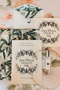 rustic Italian wedding invitations - photo by Aberrazioni Cromatiche http://ruffledblog.com/a-must-see-amalfi-coast-wedding-with-dazzling-views