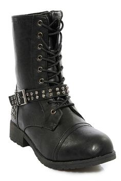 Moto Lace Up #Boot