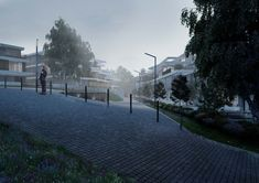 Study of residential project Buildings, Sidewalk, Study, Exterior, Space, Projects, Outdoor, Floor Space, Log Projects