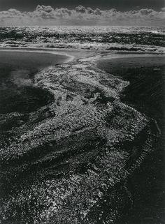 "Ansel Adams, ""Stream, Sea, Clouds,"" Rodeo Lagoon, California, 1962 from melisaki"