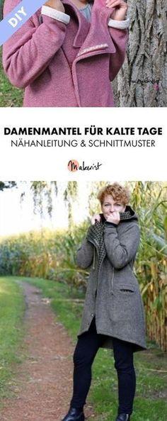 Sweatmantel für Damen mit Kapuze - Nähanleitung und Schnittmuster via Makerist.de #fashion #mäntel #damen #autunm #herbst #nähenmitmakerist #kleidung #kleidungnähen #damenkleidung #imakemyownclothes