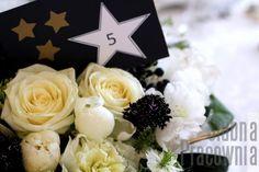detal dekoracje stołów wesele