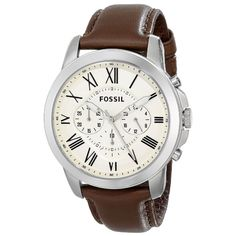This classic timepiece by Fossil features a stainless steel case and leather strap. A cram chronograph dial, precise quartz movement and a water-resistance level of up to 50 meters finish this fine timepiece. Wow! Amazing price! http://www.overstock.com/7495594/product.html?CID=245307