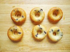 Blueberry donuts with orange glaze for a donut pan