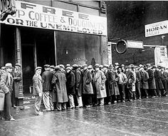 Free doughnuts at a soup kitchen run by Chicago mobster Al Capone during the 1930s