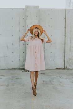 Clements Woven Dress in Primrose