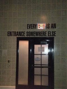 for exit sign.