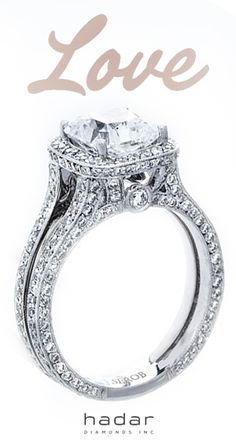 Halo engagement rings by HadarDiamonds.com . Receive 10% off custom ring design with diamond purchase.  Made with Love in Southern California. #halorings