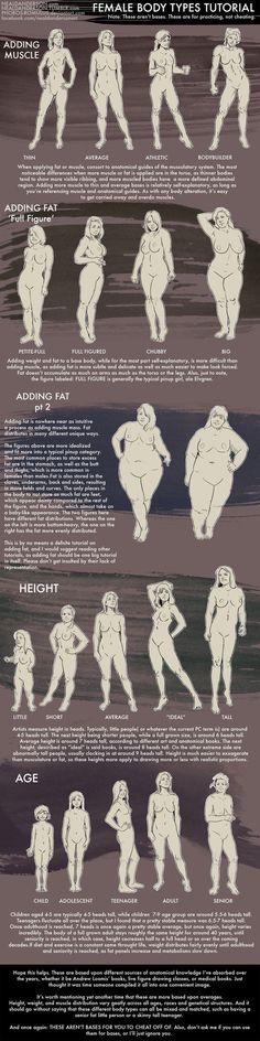 Female Body Types Drawing Tutorial by Phobos-Romulus on deviantART