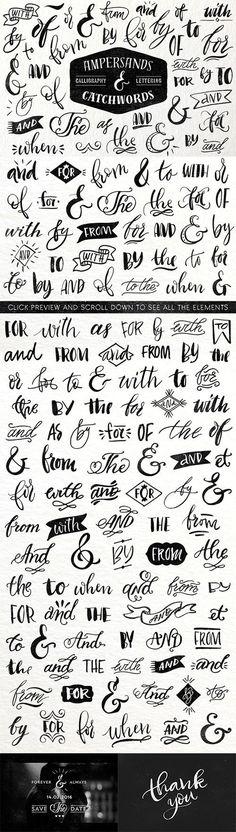 Ampersands & Catchwords - Creativemarket 365685