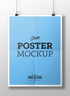 FREE poster mockup -psd-