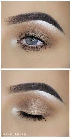 soft everyday gold shimmer eye @makeupbyan #smokey makeup #makeuplookswedding