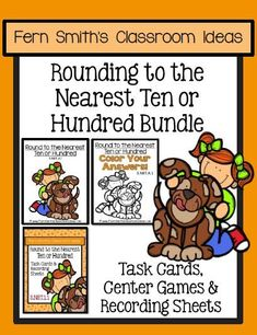 You will love the no prep, print and go ease of this BUNDLE for Rounding to the Nearest Ten or Hundred, Task Cards, Center Games, Color By Numbers, and Printables. Perfect for Third Grade Go Math 1.2 Rounding to the Nearest Ten or Hundred. Your students will adore these Color by Number worksheets while learning and reviewing important skills at the same time! As with most of my resources, answer keys are included! This resource includes Task Cards, Recording Sheets, Center Games, Color By…