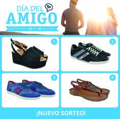 #Sorteo Día del amigo Consigue un par de #zapatos para dos amig@s y para ti tan solo siguiendo estos pasos: 🔸Síguenos. 🔸Haz un comentario en este post etiquetando a dos amig@s y detallando qué zapatos quieres para ellos. 🔸Pinéalo. Entre todos los participantes se realizará un sorteo a través de Sortea2. (Del 20 al 30 de Julio de 2017)  Promoción únicamente válida para residentes en España. Los modelos elegidos están sujetos a disponibilidad de talla y color, siendo reemplazados por otros…