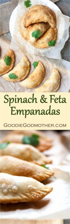 Spinach and Feta Empanadas - a delicious Mediterranean twist on a Latin treat! Perfect for vegetarians and a great dish for a group. Mexican Food Recipes, Vegetarian Recipes, Cooking Recipes, Healthy Recipes, Vegetarian Mexican, Vegetarian Dish, Spinach Recipes, Healthy Foods, Keto Recipes