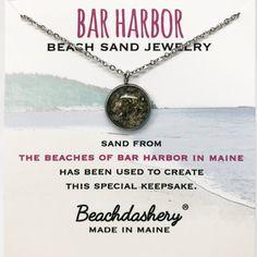 f2ff024bc Bar Harbor Beach Sand Jewelry in Maine handmade by Beachdashery Harbor  Beach, Beach Jewelry,