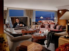 If you want an expensive suite to vacation in, you need to look at The Royal Penthouse Suite at the Hotel President Wilson in Geneva, Switzerland. It's simply stunning!