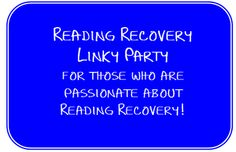 reading recovery blog