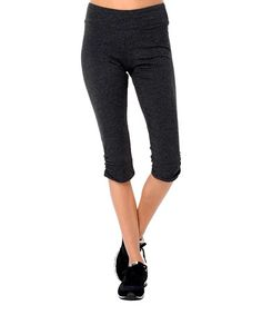 Take a look at this Charcoal Heather Organic Capri Leggings by Avani on #zulily today!