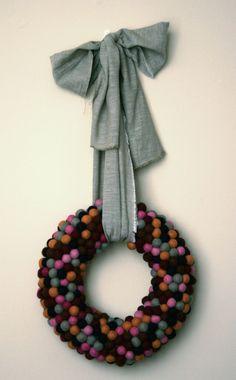 felt ball wreath