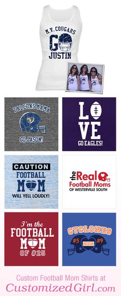 Is your son on the football team? If so, you are going to be a football mom and there are two things you need to know. First, always get to the games early for the best seat in the stands. And second, create a custom football mom shirt to properly cheer your son and the …