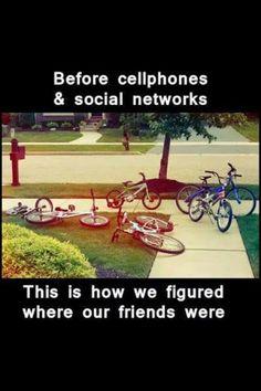 This is how it was when I was a kid, but we all rode Schwinn Cruisers.