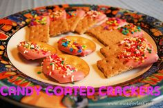 Mess For Less: Food Fun Friday: Candy Coated Crackers