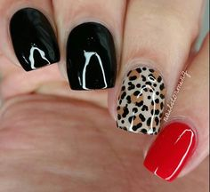 Replace brown leopard print spots with red or leave empty.