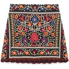 Zara Floral Embroidered Skirt as seen on Olivia Palermo
